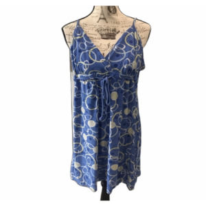 Ambrielle sleep gown XL blue vneck spaghetti strap